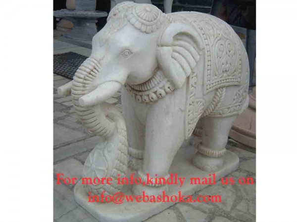 Carving Elephant Marble Statue
