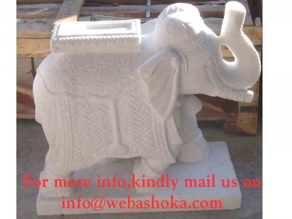 Carving Traditional Indian Elephant Statue
