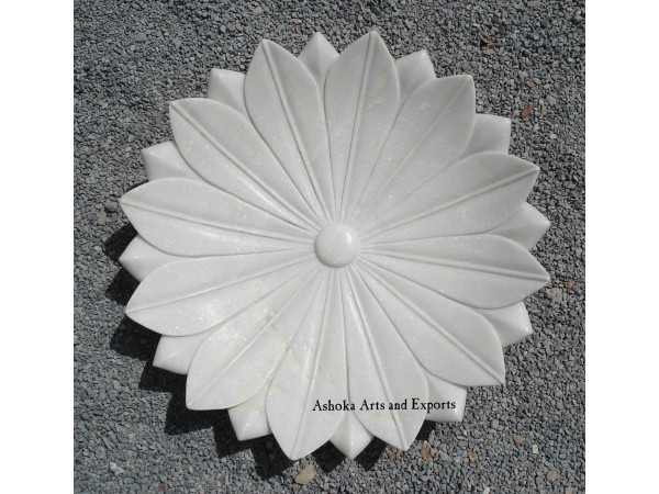White Marble Natural Finished Plate
